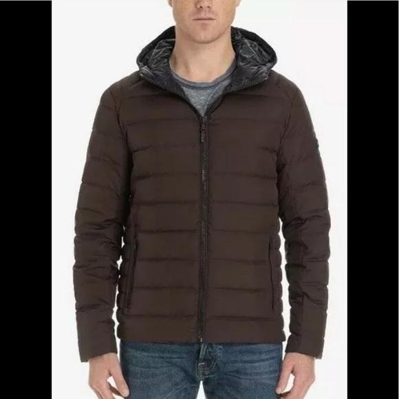 Michael Kors lightweight puffer jacket eggplant S